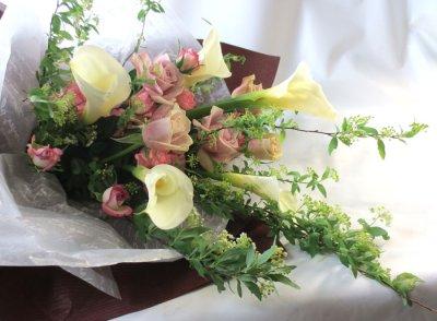 画像3: コデマリとカラーの春の花束