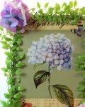 画像2: 紫陽花のアートフラワーフレーム・tinプレート (2)