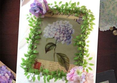 画像3: 紫陽花のアートフラワーフレーム・tinプレート