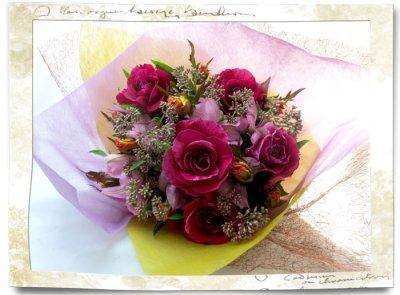 画像3: 藤袴とバラの秋の花束