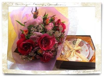 画像2: 藤袴とバラの秋の花束