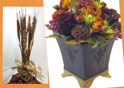 画像2: 麦の穂と月桂樹(ローレル)のアレンジメント