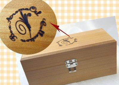 画像1: アロマオイル用木製ボックス