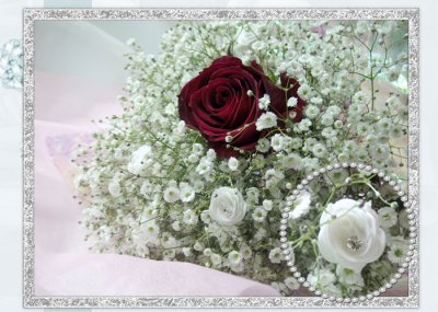 画像1: かすみ草の花束in My heart