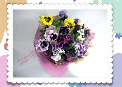 画像3: パンジーの花束〜Pure love