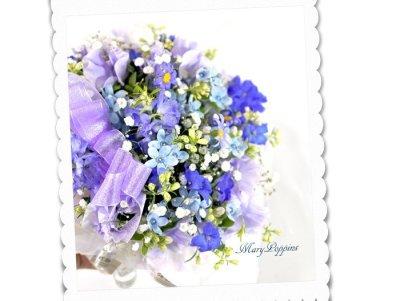 画像1: 青い小花のアレンジメント〜blooms of blue2