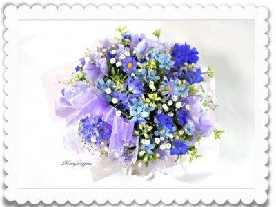画像2: 青い小花のアレンジメント〜blooms of blue2