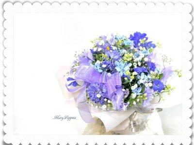 画像3: 青い小花のアレンジメント〜blooms of blue2