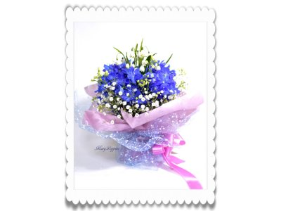 画像3: スノーフレークとデルフィニウムの花束