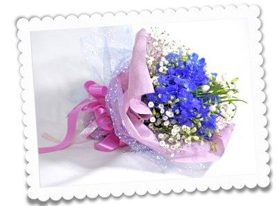 画像2: スノーフレークとデルフィニウムの花束