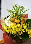 画像2: サンダーソニアとオンシジウム、カラーの花束 (2)