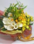 画像3: サンダーソニアとオンシジウム、カラーの花束 (3)