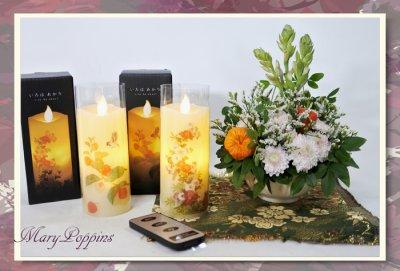画像2: お線香と蝋燭のギフトセット/ LEDキャンドル(いろはあかり)