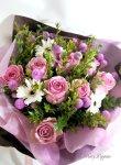 画像2: マートルとバラの花束 (2)