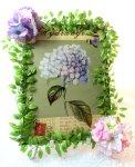 画像5: 紫陽花のアートフラワーフレーム・tinプレート (5)