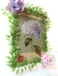 画像3: 紫陽花のアートフラワーフレーム・tinプレート (3)