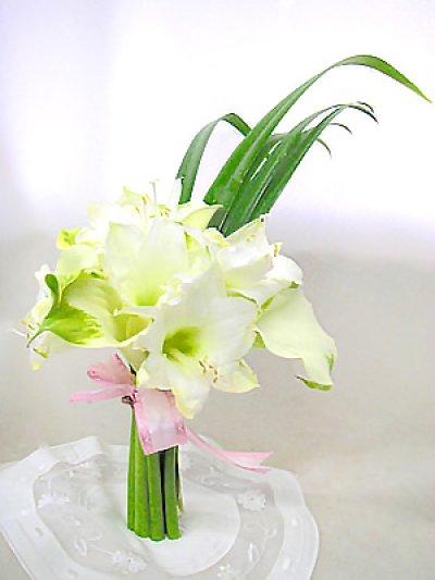 画像1: アマリリスとカラーの花束