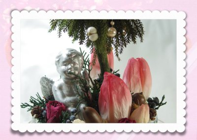 画像2: プリザーブド・チューリップのアレンジ〜Christmas forest