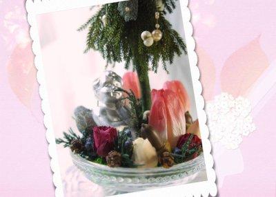 画像3: プリザーブド・チューリップのアレンジ〜Christmas forest