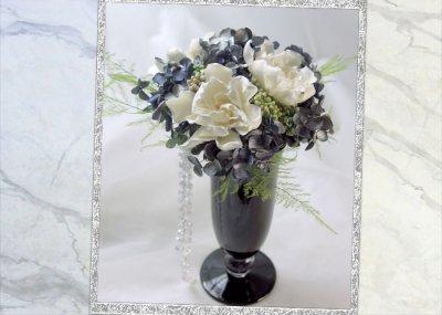 画像3: プリザーブドの梔子のアレンジメント〜Gardenia
