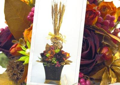 画像3: 麦の穂と月桂樹(ローレル)のアレンジメント