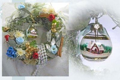 画像1: プリザーブドフラワーのリース〜樹氷の森のリース