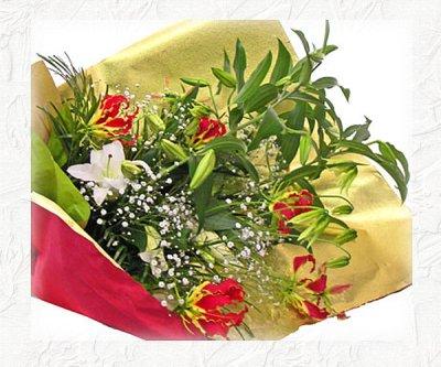 画像1: カサブランカとグロリオーサリリーの花束