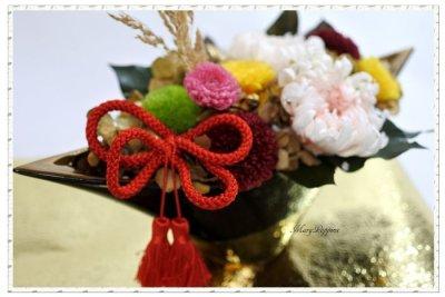 画像2: プリザーブドフラワーの菊のアレンジメント