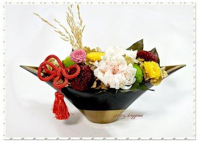 画像3: プリザーブドフラワーの菊のアレンジメント