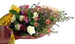 画像2: クジャクソウとバラの花束 (2)