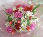 画像1: ラナンキュラスとマーガレットの花束 (1)