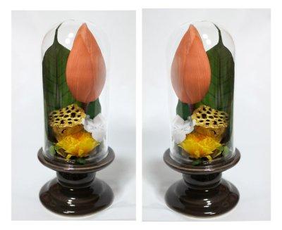 画像2: プリザーブドフラワーのお供えのアレンジ〜蓮