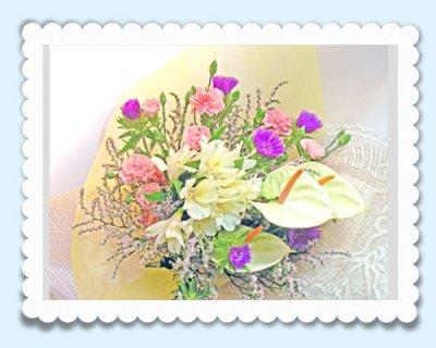 画像3: ストケシアとアンスリウムの花束