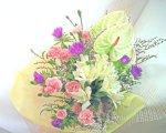 画像4: ストケシアとアンスリウムの花束 (4)