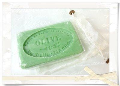 画像2: オリーブ石鹸・タオルギフトset