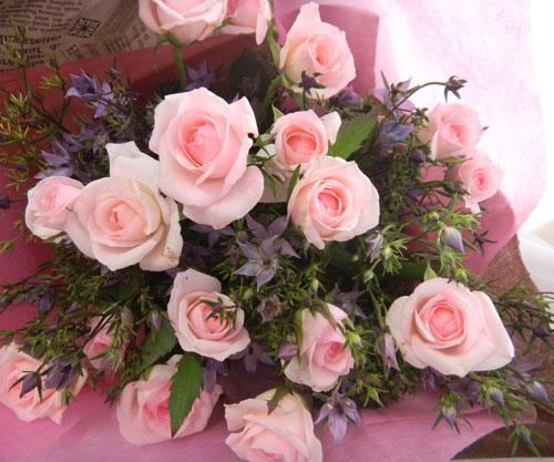 画像1: イブニングスターとバラの花束 (1)