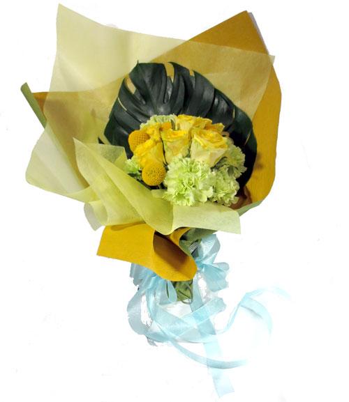画像1: 黄色いバラの花束 (1)