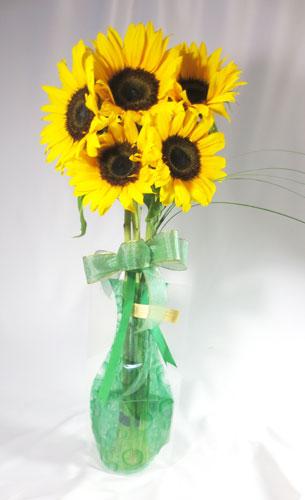 画像1: ポット付きひまわりの花束〜sunny (1)