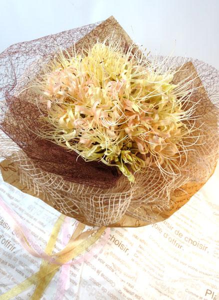 画像1: 秋色リコリスの花束 (1)