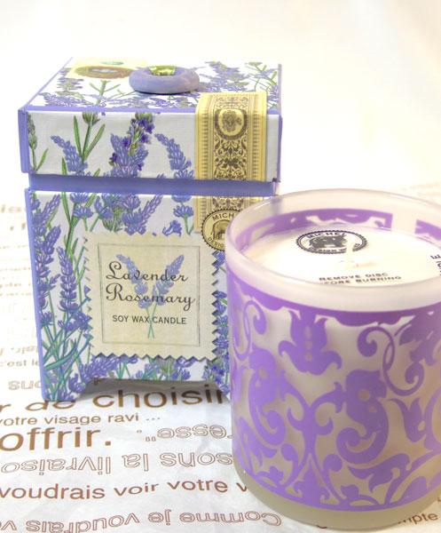 画像1: ソイ・ワックスキャンドル〜Lavender&Rosemary (1)