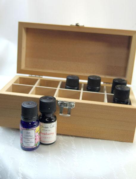 画像1: アロマオイル用木製ボックス (1)
