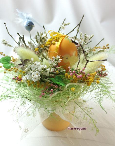 画像1: 小鳥とたまごと四つ葉のクロ-バーHappy love (1)