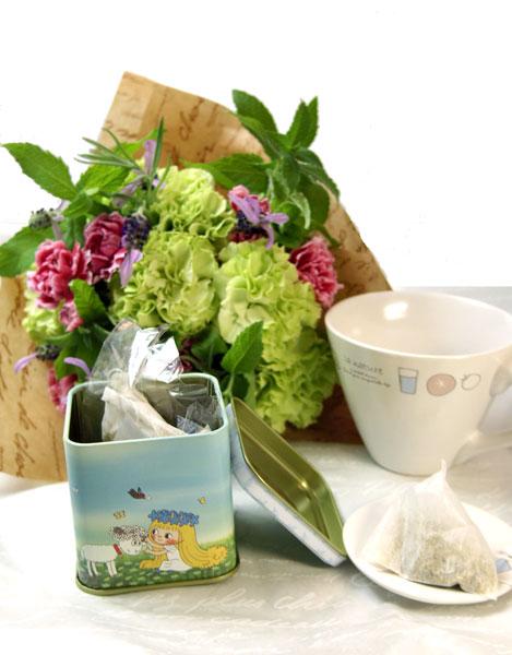 画像1: ハーブティセットとハーブの花束のギフトセット (1)