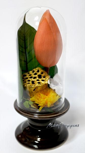 画像1: プリザーブドフラワーのお供えのアレンジ〜蓮 (1)