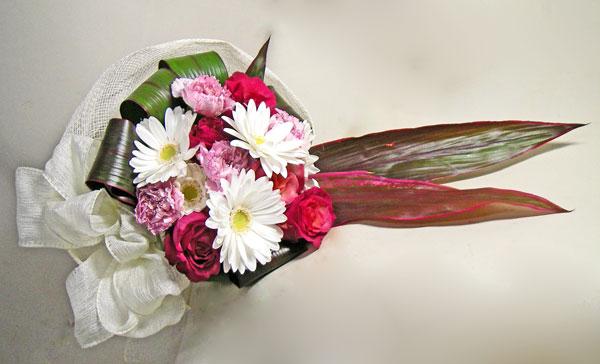 画像1: バラとガーベラの花束〜シフォン (1)