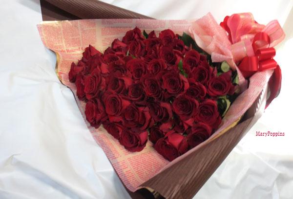 画像1: 薔薇(バラ)の花束 (1)