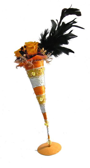 画像1: ブラックフェザーのプリザーブドアレンジ (1)