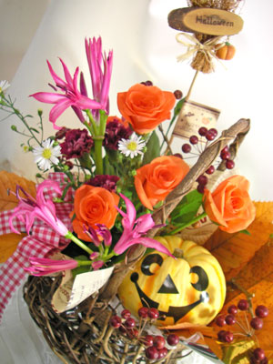 画像1: ハロウインのかぼちゃアレンジメント (1)