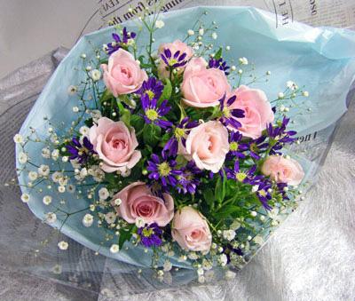 画像1: 都忘れとバラの花束 (1)