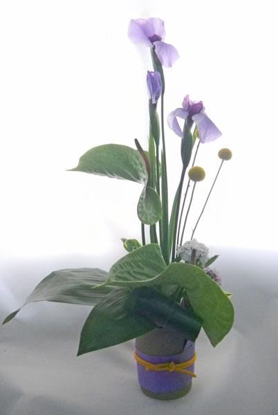 画像1: 菖蒲のアレンジメント〜清爽 (1)